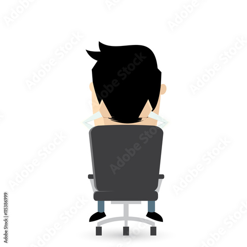 Bürostuhl clipart  bürostuhl sitzen clipart rücken