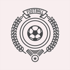 Football. Monochrome vector logo, isolated on white background.