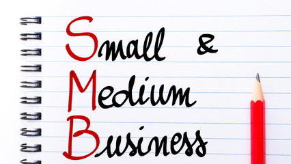 SMB Small and Medium Business written on notebook