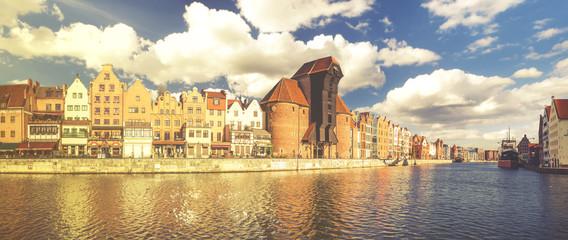 Papiers peints Ville sur l eau Cityscape of Gdansk in Poland