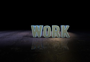 Work, Slogan, 3D Typography