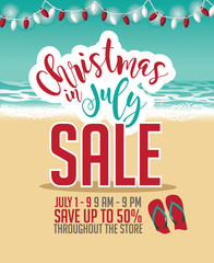 Christmas In July Sale Ideas.Christmas In July Sale Ad Template Eps 10 Vector Buy