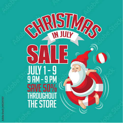 Christmas In July Royalty Free Images.Christmas In July Sale Ad Template Eps 10 Vector Stock