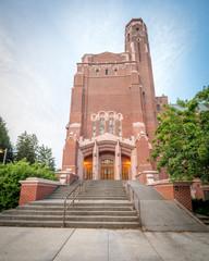 Callic old brick building on university campus