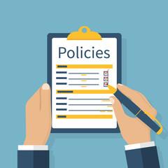 policies vector illustration