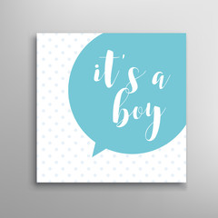 Its a boy lettering