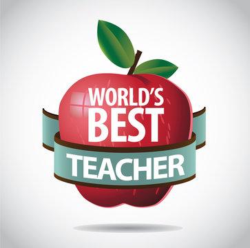 World's Best teacher icon symbol. EPS 10 vector.