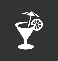 Cocktail icon vector sign. Vacation signs.