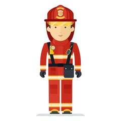 profession fireman in suit