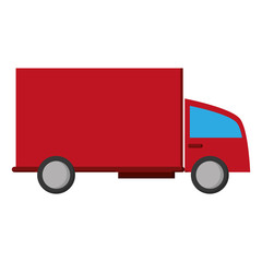 24 7 truck transport service isolated vector illustration