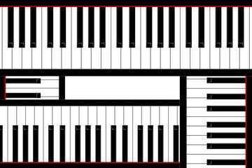 Four pianos keys