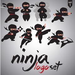 ninja logo set 1