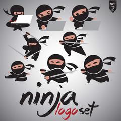 ninja logo  set 2