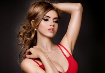 Beauty portrait of elegant girl.