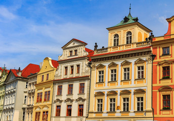 Wall Murals Traditional architecture in Old Town square, Prague, Czech Republic