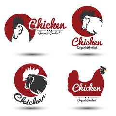 Chicken label vector
