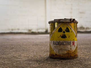 Rusty Radioative material container