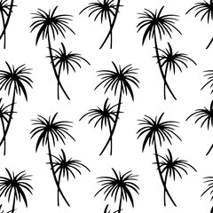 Seamless pattern with palm trees