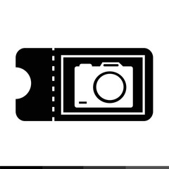 icon ticket for camera illustration design