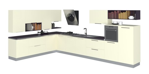 3D Illustration Kitchen Furniture