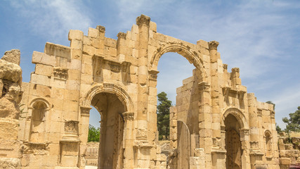Entrance gate in Jerash (Jordan)