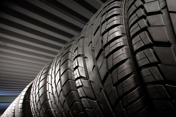 Tires. Black rubber tires.