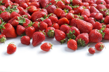 Big natural strawberries. Close up, high resolution product.