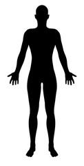 Stylised Unisex Human Figure Silhouette
