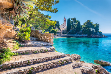 Dominican monastery Bol Brac. / Ancient dominican monastery is landmark in town of Bol, Island of Brac, Croatia.