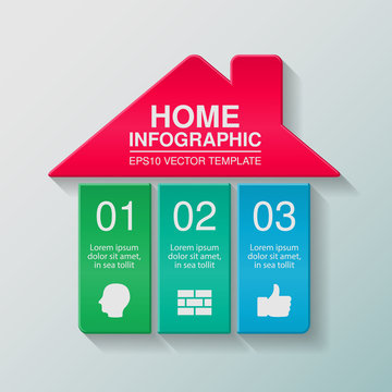 Vector infographic template, home