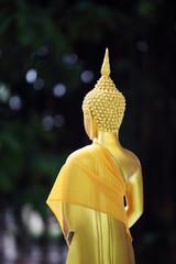 buddha statue with beautiful bokeh