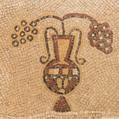 Ancient mosaic - Mount Nebo, Jordan