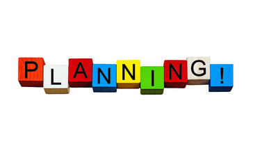 Planning - business sign series, strategy, vision & planning.