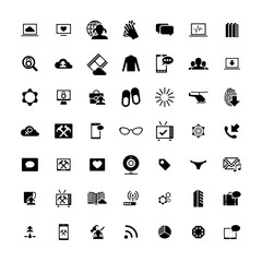 Set of 49 Universal Icons. Business, internet, web design.