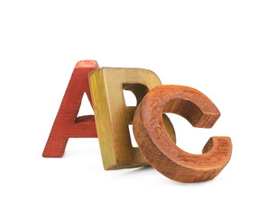 ABC letters composition isolated