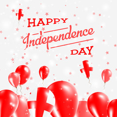 Georgia Independence Day Patriotic Design. Balloons in National Colors of the Country. Happy Independence Day Vector Greeting Card.