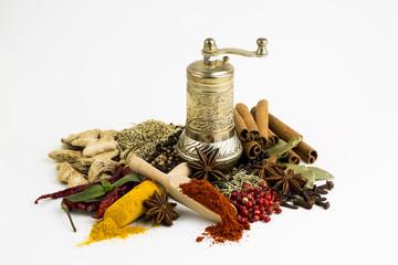 Printed kitchen splashbacks Spices Baharat Çeşitleri