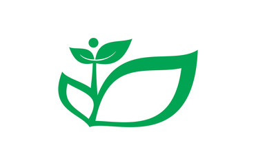 green landscape leaf logo