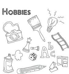 Collection of hobbies and leisure related icons
