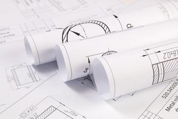 Mechanics engineering drawings.