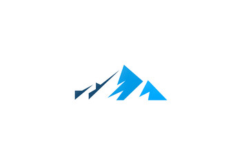 abstract mountain vector logo