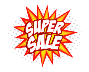 Super sale comic splash