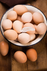 healthy fresh eggs