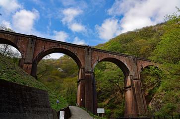 碓氷峠のめがね橋/The most high brick arch bridge in Japan