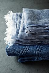 Indigo cloths ( linen and cotton)