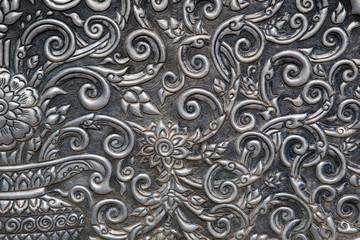 silver wall ,Thai traditional