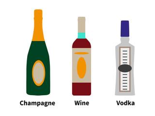 Vector illustration strong drinks