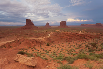 Storm sky over Monument Valley, USA
