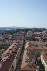 Vista aerea della citta di Zara, Croazia