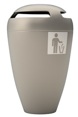 Garbage bin isolated